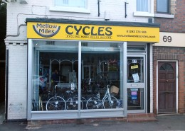 Mellow Miles Cycles shop front